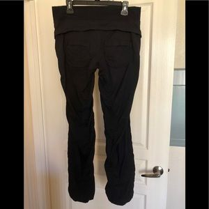 Lulu black cargo pants